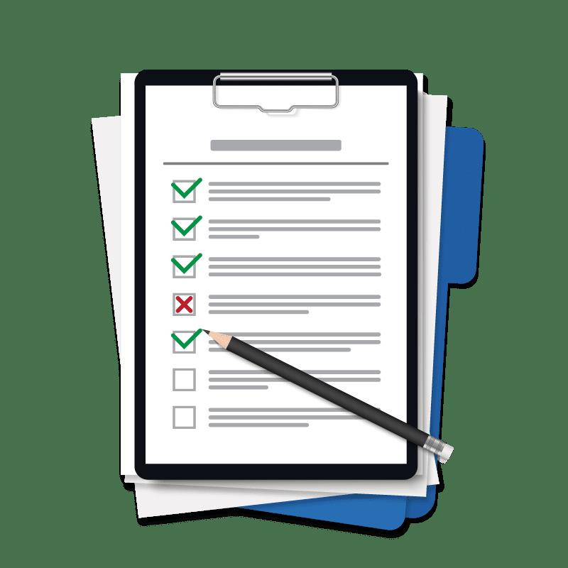 Requirements Engineering - Checkliste mit Bleistift