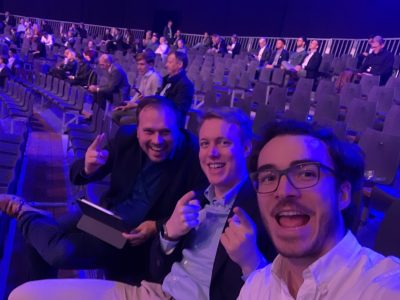 Thorsten Schmidt, Felix Stürmer und Daniel Lange auf der Digital X in Köln