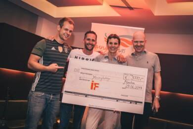 Kickern für den guten Zweck: 3000 Euro gingen als Spende an den Charity-Partner YoungWings.